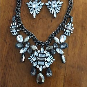 New Rhinestone necklace and earring set